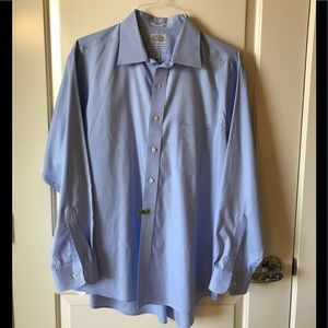 Eagle two ply pinpoint blue shirt